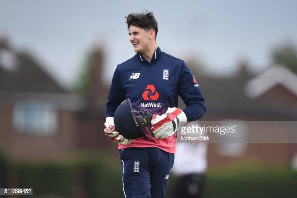 Jack Perry of England looks on during the INAS Learning Disability TriSeries Trophy match against England and South Africa at Chester Boughton Hall...
