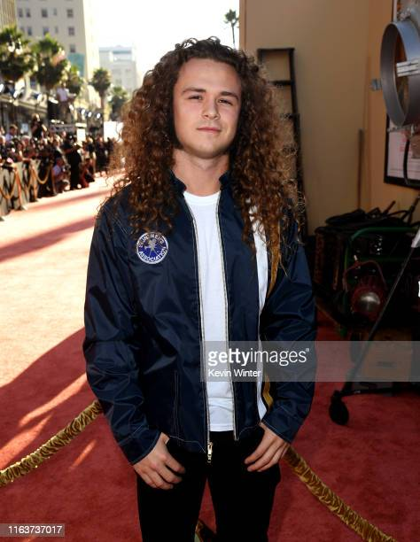 Jack Perry son of Luke Perry arrives at the premiere of Sony Pictures' Once Upon A TimeIn Hollywood at the Chinese Theatre on July 22 2019 in...