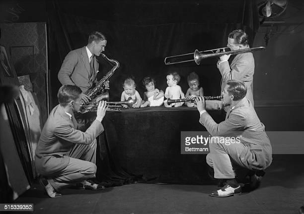 Jack Pettis Harold Rehring Donald Bryan and Leonard Kavash the Bernie Jazz artist tried to entertain Mary Mahoney Patricia McGahan Florence Mahoney...