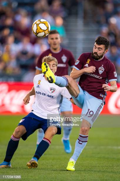 Jack Price of the Colorado Rapids clears the ball against FC Dallas during the first half at Dick's Sporting Goods Park on September 29 2019 in...
