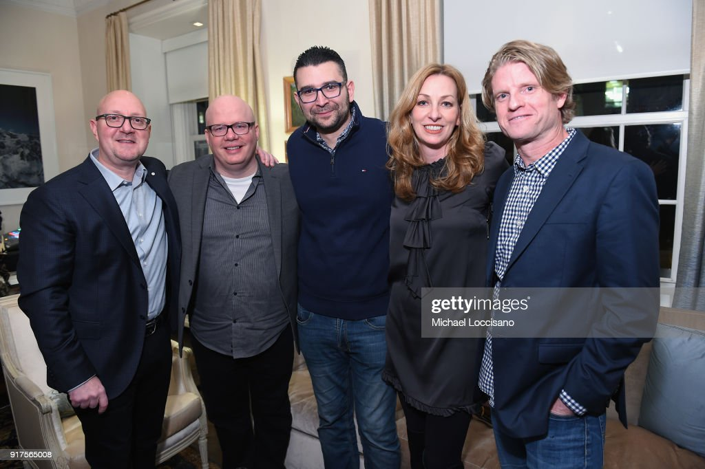 Jack Purcell, Jesse Addy, Mike Allan, Lisa Purcell and Kos Weaver attend the Country Music Hall Of Fame And Museum Reception With Carly Pearce For All For The Hall New York on February 12, 2018 in New York City.