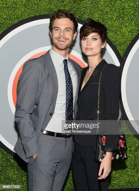 Jack Quaid and Lizzy McGroder attend the 2017 GQ Men of the Year party at Chateau Marmont on December 7 2017 in Los Angeles California