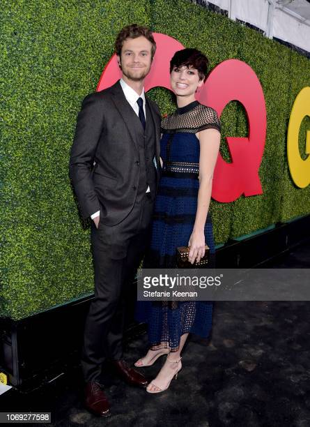 Jack Quaid and Lizzy McGroder attend the 2018 GQ Men of the Year Party at a private residence on December 6 2018 in Beverly Hills California