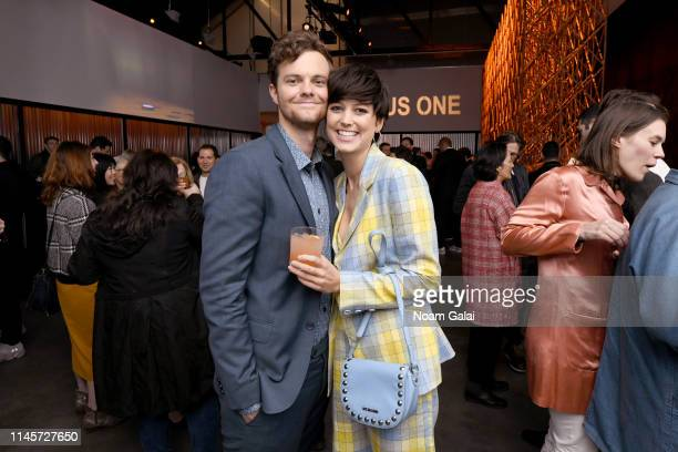 Jack Quaid and Lizzy McGroder attend the Plus One Premiere After Party at the Bulleit 3D printed Frontier Lounge during Tribeca Film Festival on...