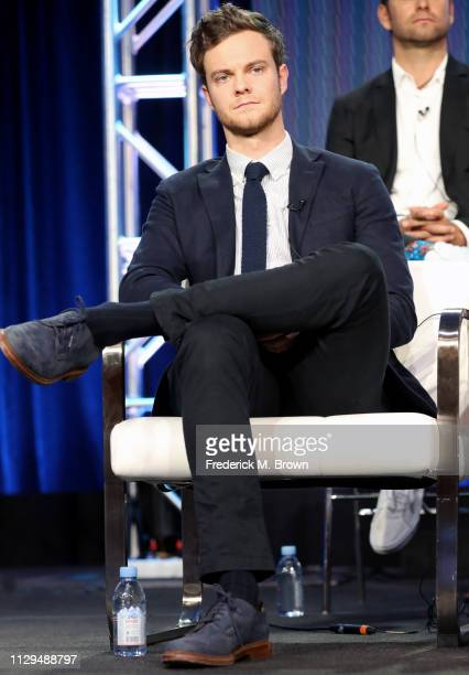 Jack Quaid of the television show 'The Boys' speaks during the Amazon Prime Video Session of the 2019 Winter Television Critics Association Press...