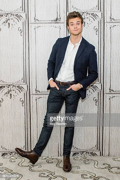 Jack Quaid speaks to AOL Build about Vinyl at AOL Studios In New York on January 15 2016 in New York City