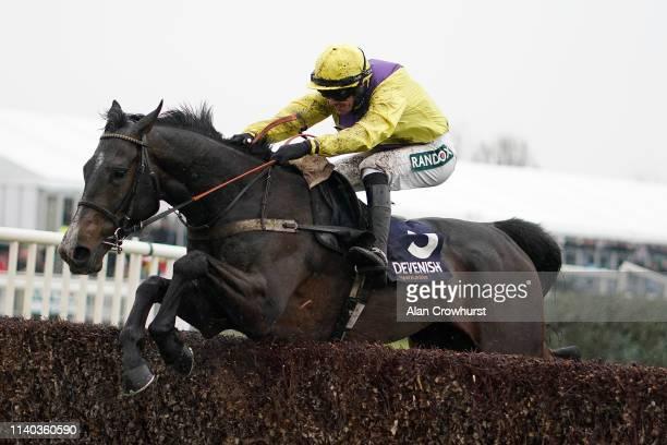 Jack Quinlan riding Kalashnikov clear the last to win The Devenish Manifesto Novices' Chase on Grand National Thursday at Aintree Racecourse on April...