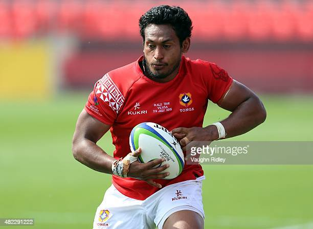 Jack Ram of Tonga during the World Rugby Pacific Nations Cup against the USA at BMO Field on July 29 2015 in Toronto Ontario Canada