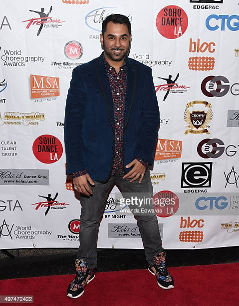 Jack Rayner arrives at the World Choreography Awards at The Ricardo Montalban Theatre on November 16 2015 in Hollywood California