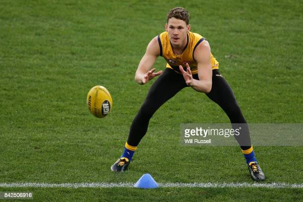 Jack Redden of the Eagles during a West Coast Eagles AFL training session at Domain Stadium on September 4 2017 in Perth Australia