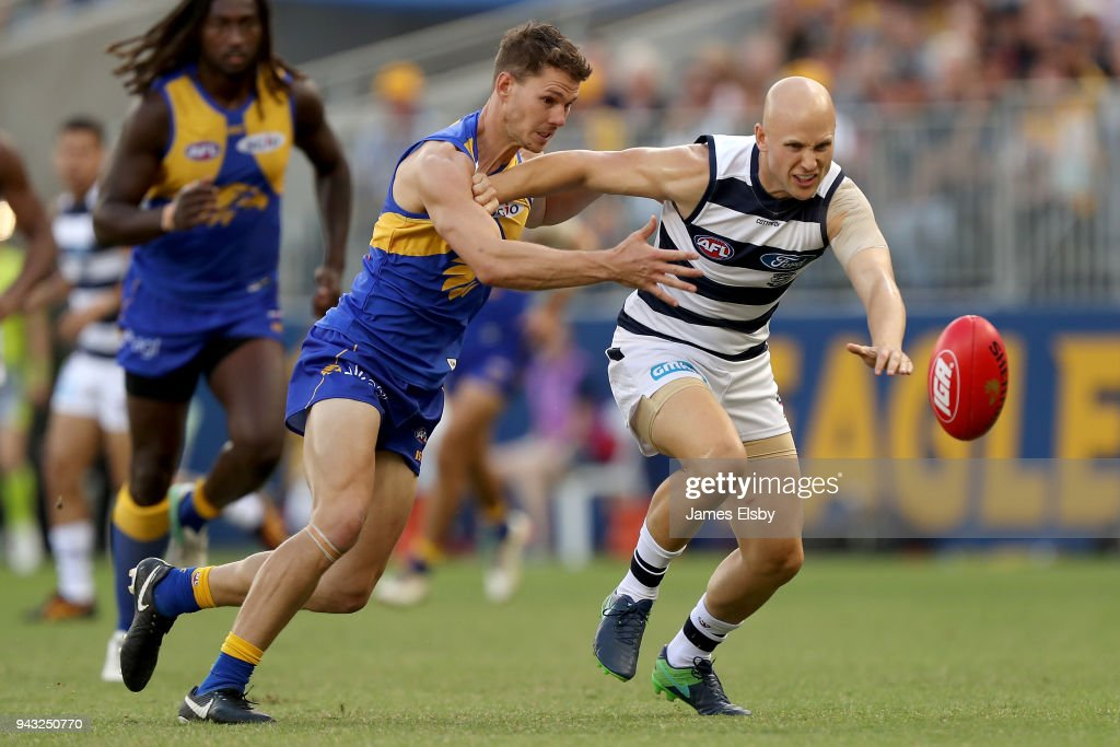 AFL Rd 3 - West Coast v Geelong : News Photo