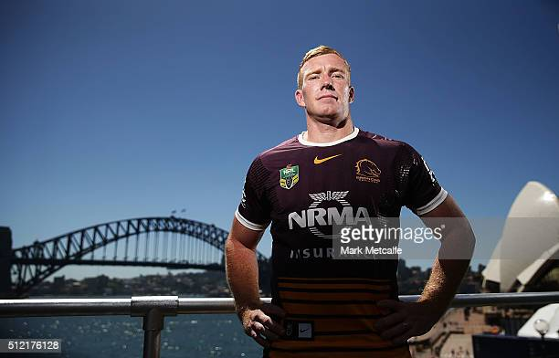 Jack Reed of the Broncos poses during the 2016 NRL Season Launch at Sydney Botanical Gardens on February 25 2016 in Sydney Australia
