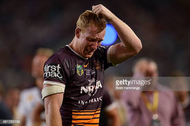 Jack Reed of the Broncos reacts after defeat during the 2015 NRL Grand Final match between the Brisbane Broncos and the North Queensland Cowboys at...