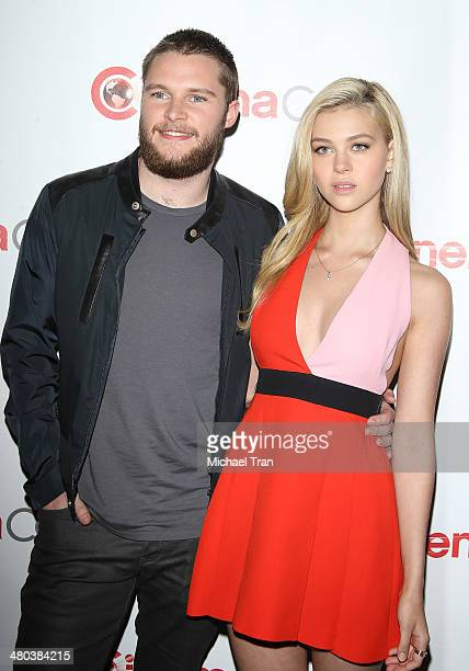 Jack Reynor and Nicola Peltz attend the Paramount Studios presentation Cinemacon 2014 Day 1 opening night held at The Colosseum at Caesars Palace on...