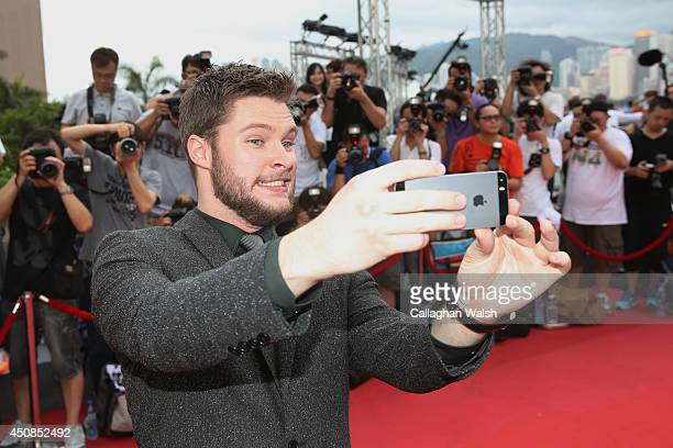Jack Reynor arrives at the worldwide premiere screening of Transformers Age of Extinctionat the on June 19 2014 in Hong Kong Hong Kong