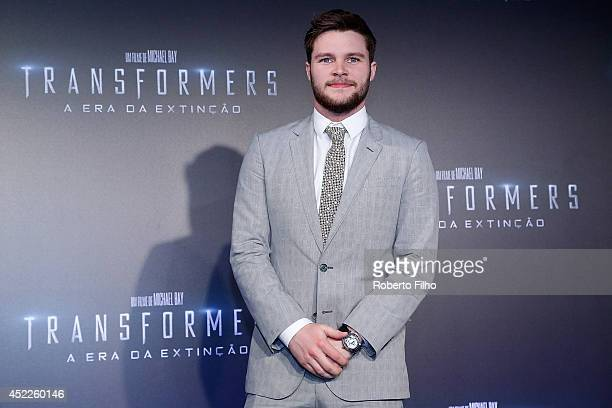 Jack Reynor attends the premiere of Paramount Pictures 'Transformers Age of Extinction' at Cinepolis Lagoon on July 16 2014 in Rio de Janeiro Brazil