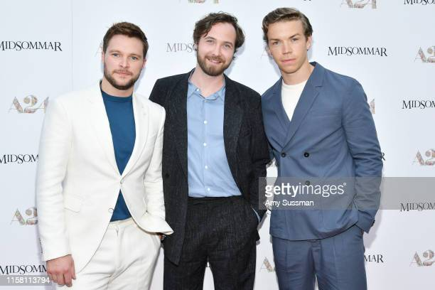 Jack Reynor Vilhelm Blomgren and Will Poulter attend the premiere of A24's Midsommar at ArcLight Hollywood on June 24 2019 in Hollywood California