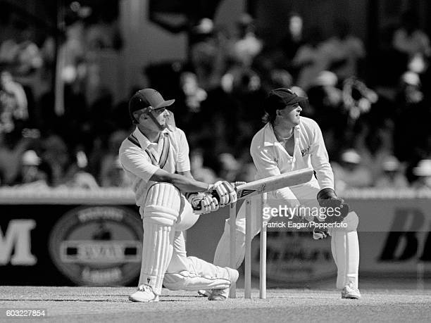 Jack Richards of England batting during the 2nd Test match between Australia and England at the Waca Perth Australia 29th November 1986 The...