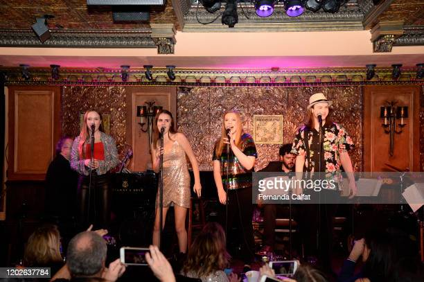 Jack RichmanRachelHannah and Casey on stage at Songs For The World at Feinstein's/54 Below on January 28 2020 in New York City