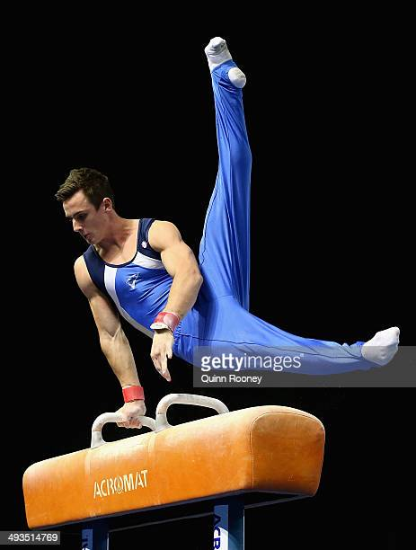 Jack Rickards of Victoria competes on the Pommel Horse during the Australian National Gymnastics Championships at Hisense Arena on May 24, 2014 in...