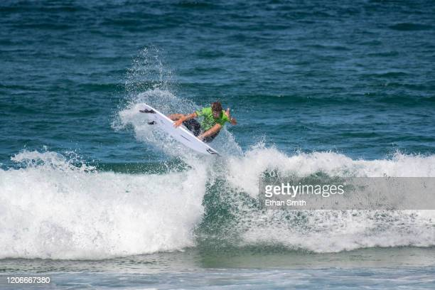 Jack Robinson of Australia surfing in Round 3 of the 2020 Sydney Surf Pro at Manly Beach on 11 March 2020 in Sydney Australia today