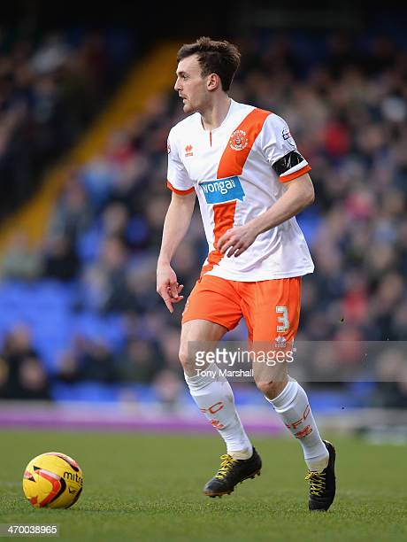 Jack Robinson of Blackpool during the Sky Bet Championship match between Ipswich Town and Blackpool at Portman Road on February 15 2014 in Ipswich...