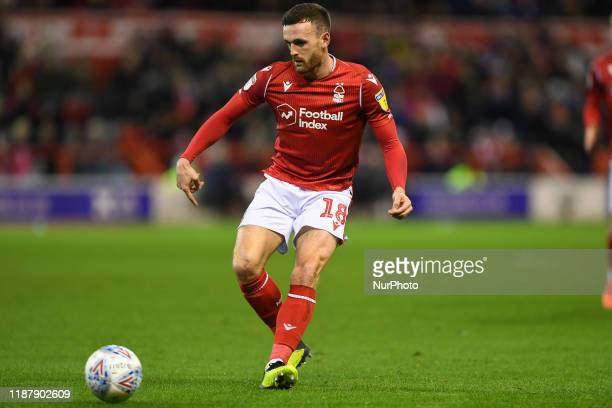 Jack Robinson of Nottingham Forest during the Sky Bet Championship match between Nottingham Forest and Middlesbrough at the City Ground Nottingham on...