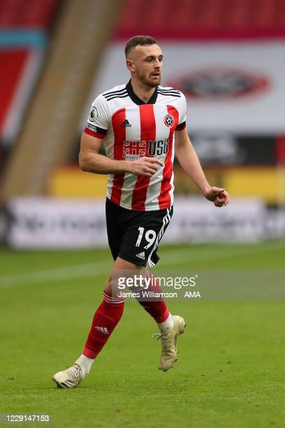 Jack Robinson of Sheffield United during the Premier League match between Sheffield United and Fulham at Bramall Lane on October 18, 2020 in...