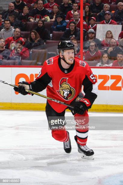 Jack Rodewald of the Ottawa Senators skates against the Montreal Canadiens at Canadian Tire Centre on October 30 2017 in Ottawa Ontario Canada
