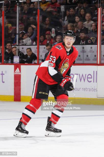 Jack Rodewald of the Ottawa Senators skates against the Vegas Golden Knights at Canadian Tire Centre on November 4 2017 in Ottawa Ontario Canada