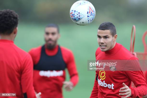 Jack Rodwell during a Sunderland AFC training session at The Academy of Light on October 19, 2017 in Sunderland, England.
