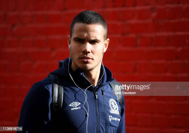 Jack Rodwell of Blackburn Rovers arrives prior to the Sky Bet Championship match between Brentford and Blackburn Rovers at Griffin Park on February...