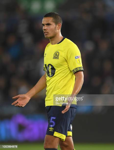 Jack Rodwell of Blackburn Rovers reacts during the Sky bet Championship EFL match between Swansea City v Blackburn Rovers at Liberty Stadium on...