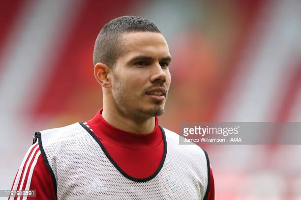 Jack Rodwell of Sheffield United during the FA Cup Third Round match between Sheffield United and AFC Fylde at Bramall Lane on January 5, 2020 in...