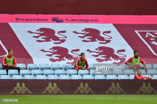 Jack Rodwell of Sheffield United is seen sitting in the stands during the Premier League match between Aston Villa and Sheffield United at Villa Park...