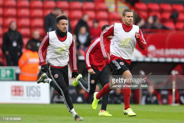 Jack Rodwell of Sheffield United warming up with teammates before the FA Cup Third Round match between Sheffield United and AFC Fylde at Bramall Lane...