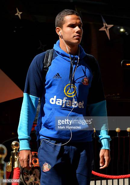 Jack Rodwell of Sunderland arrives at the stadium ahead of the Premier League match between Sunderland FC and Middlesbrough FC at Stadium of Light on...