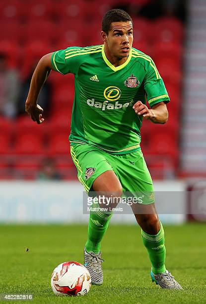 Jack Rodwell of Sunderland in action during the pre Season Friendly match between Doncaster Rovers and Sunderland at Keepmoat Stadium on July 29 2015...