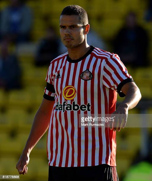 Jack Rodwell of Sunderland in action during the pre season friendly between Livingston and Sunderland at Almondvale Stadium on July 12 2017 in...