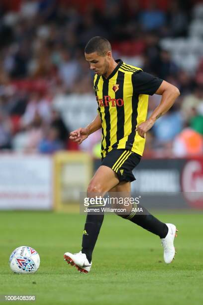 Jack Rodwell of Watford during the Pre-Season Friendly between Stevenage v Watford at The Lamex Stadium on July 27, 2018 in Stevenage, England.