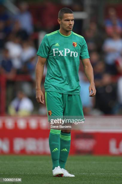 Jack Rodwell of Watford during the pre-season match between Brentford and Watford at Griffin Park on July 28, 2018 in Brentford, England.