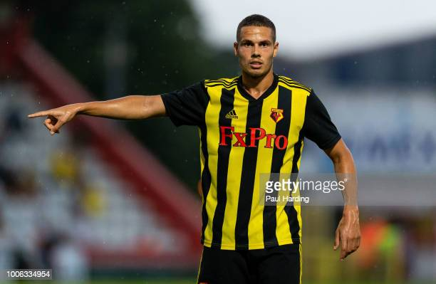 Jack Rodwell of Watford FC during the pre-season friendly between Stevenage and Watford at The Lamex Stadium on July 27, 2018 in Stevenage, England.
