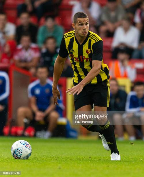 Jack Rodwell of Watford FC runs after the ball during the pre-season friendly match between Stevenage and Watford at The Lamex Stadium on July 27,...