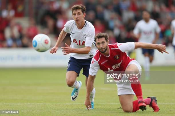 Jack Roles of Tottenham during the preseason friendly match between Ebbsfleet United and Tottenham Hotspur at Stonebridge Road on July 15 2017 in...