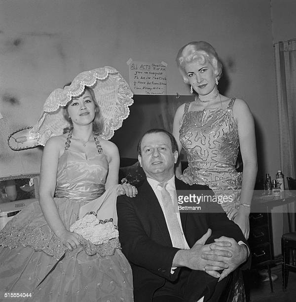 Jack Ruby is seen here with unidentified members of his burlesque act