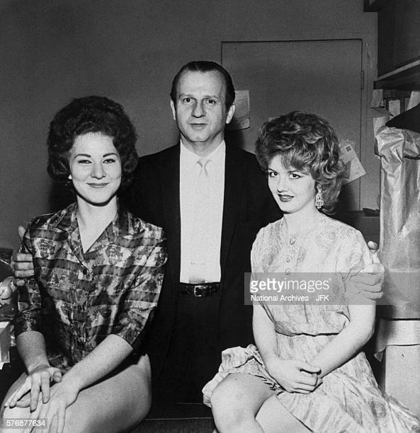 Jack Ruby with two of his dancers at his nightclub the Carousel Club This photograph was part of the evidence in the John F Kennedy assassination...