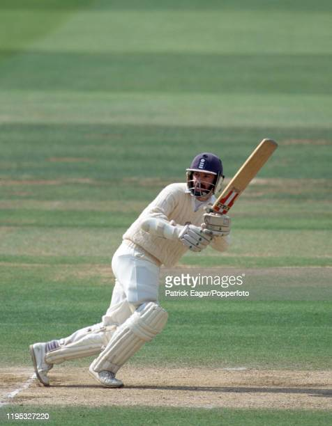 Jack Russell batting for England on day five of the 2nd Test match between England and India at Lord's Cricket Ground, London, 24th June 1996. The...