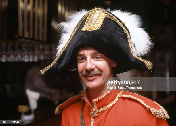 Jack Russell of England in fancy dress for the England cricket team's Christmas lunch in Melbourne Australia 25th December 1990
