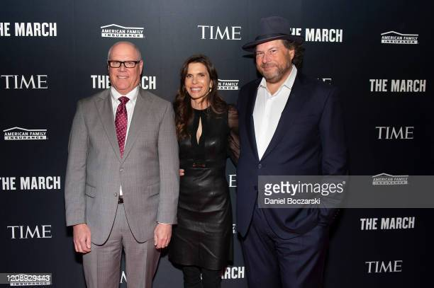 Jack Salzwedel and CoChairs of TIME Marc Benioff and wife Lynne Benioff attend the TIME Launch Event for The March VR Exhibit at the DuSable Museum...