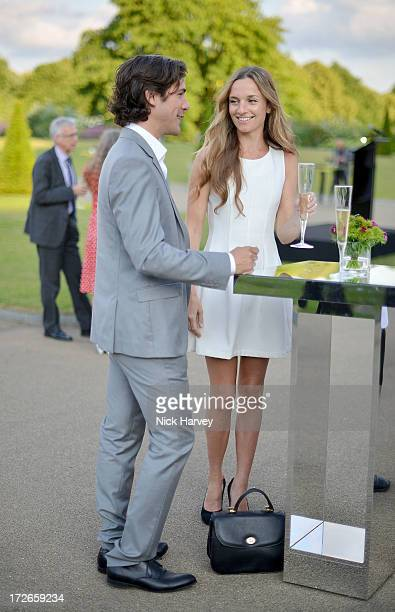 Jack Savoretti and Jemma Powell attend the launch party for the Fashion Rules exhibition a collection of dresses worn by HRH Queen Elizabeth II...